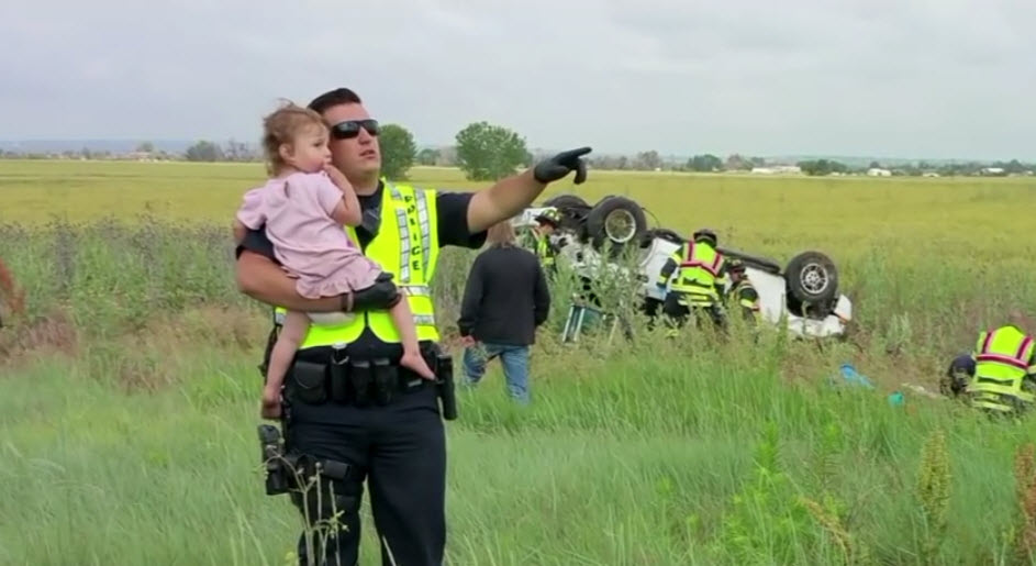 Cop Singing To Little Girl
