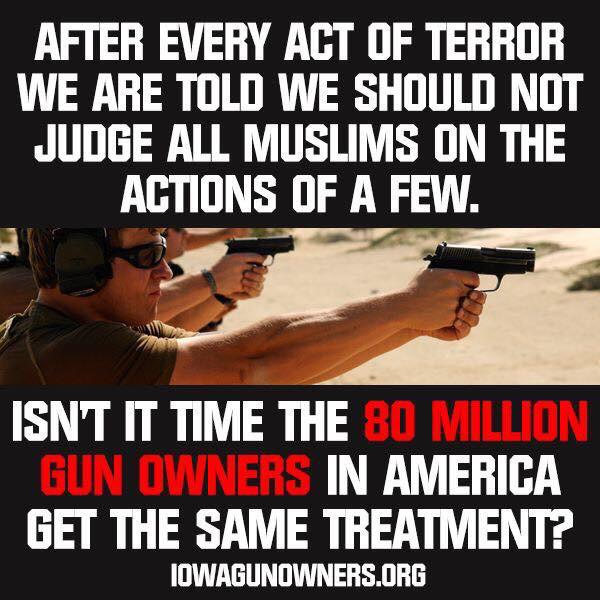 Gun Owners Same Treatment