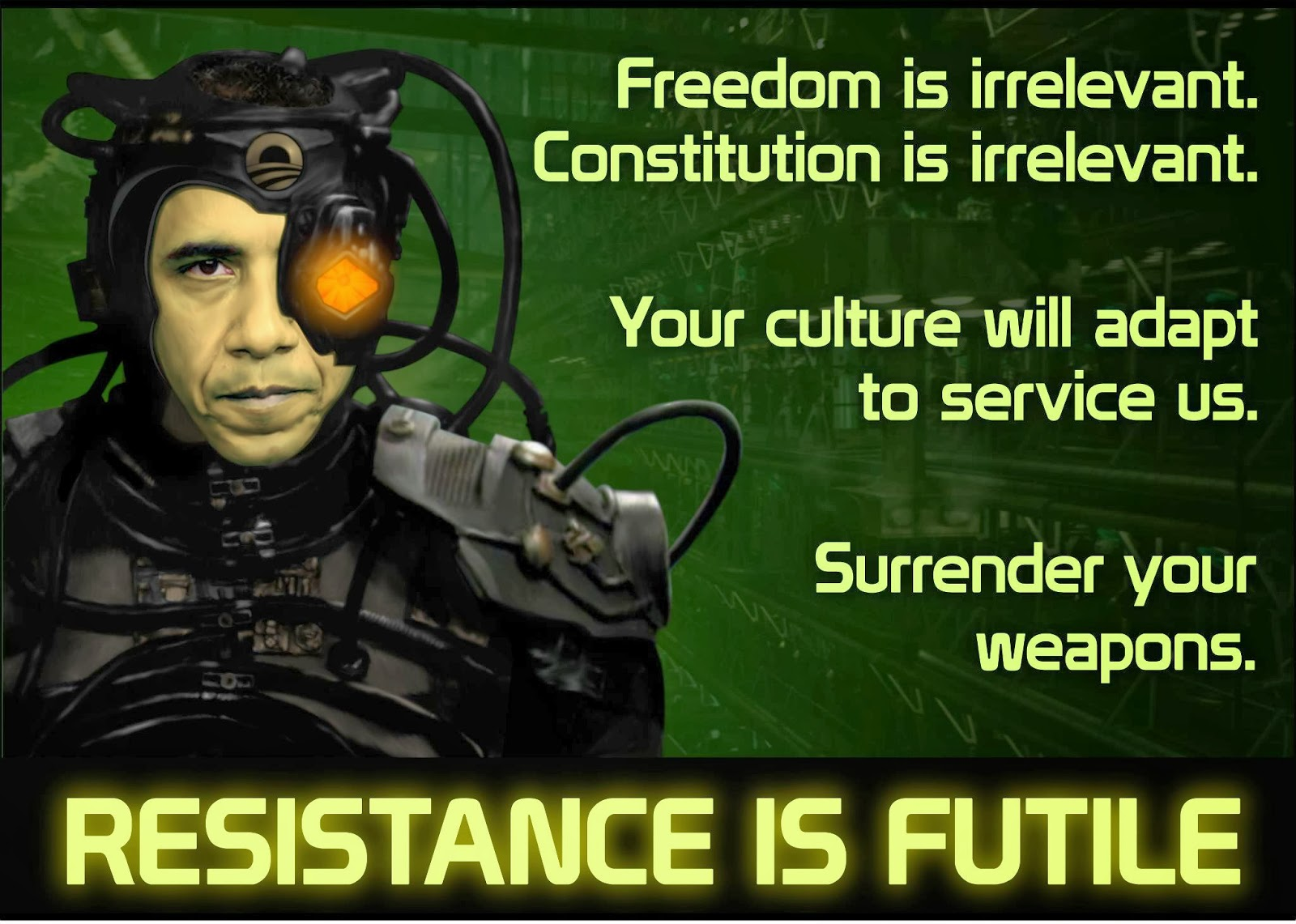 Resistance is futile bloviating zeppelin - We are the borg quote ...