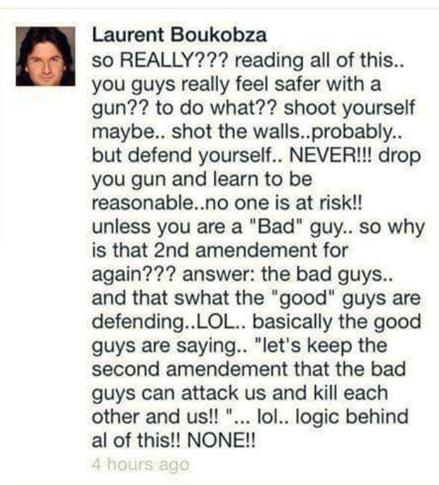 Second Amendment Tweet From Boukobza