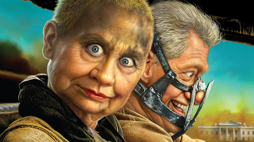 Hillary Clinton As Mad Max With Willie J
