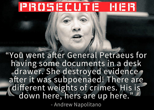 Hillary Clintoton Prosecute Her