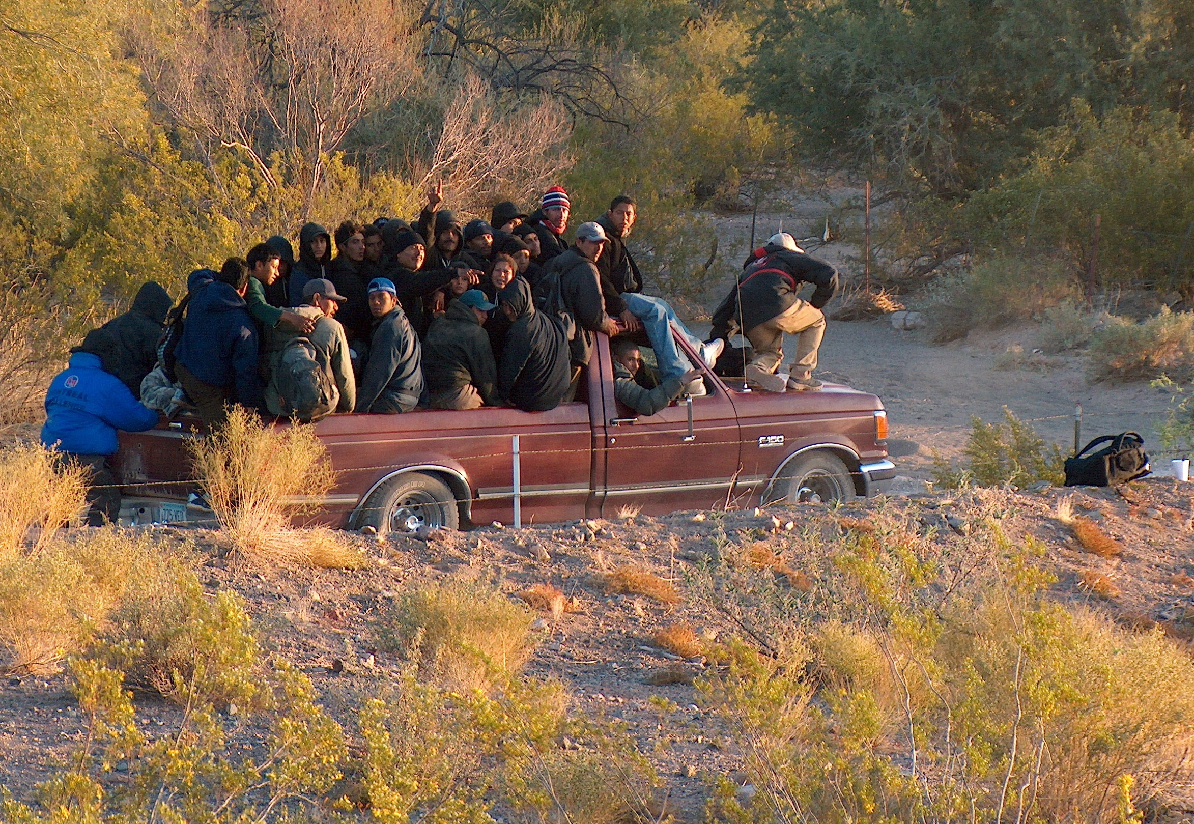 Illegal Mexicans In Pickup, AZ