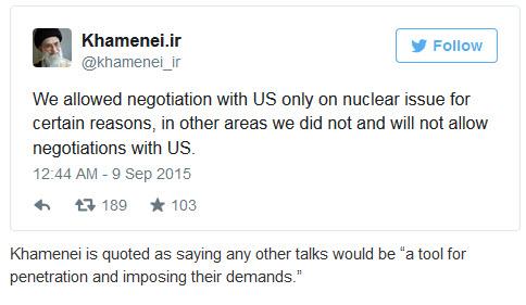 Khamenei Tweet About US