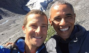 Obama Selfie Bear Grylls
