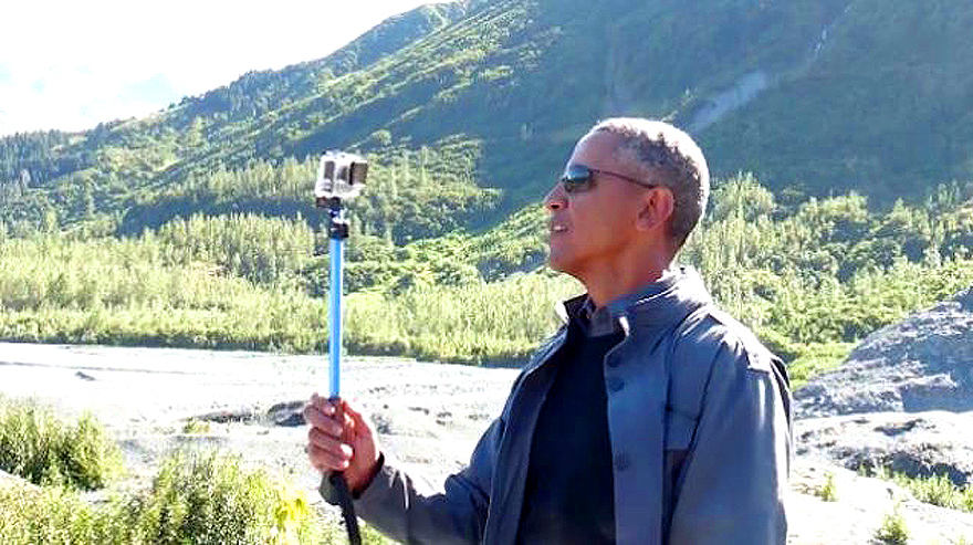 Obama Selfie With Stick, Alaska