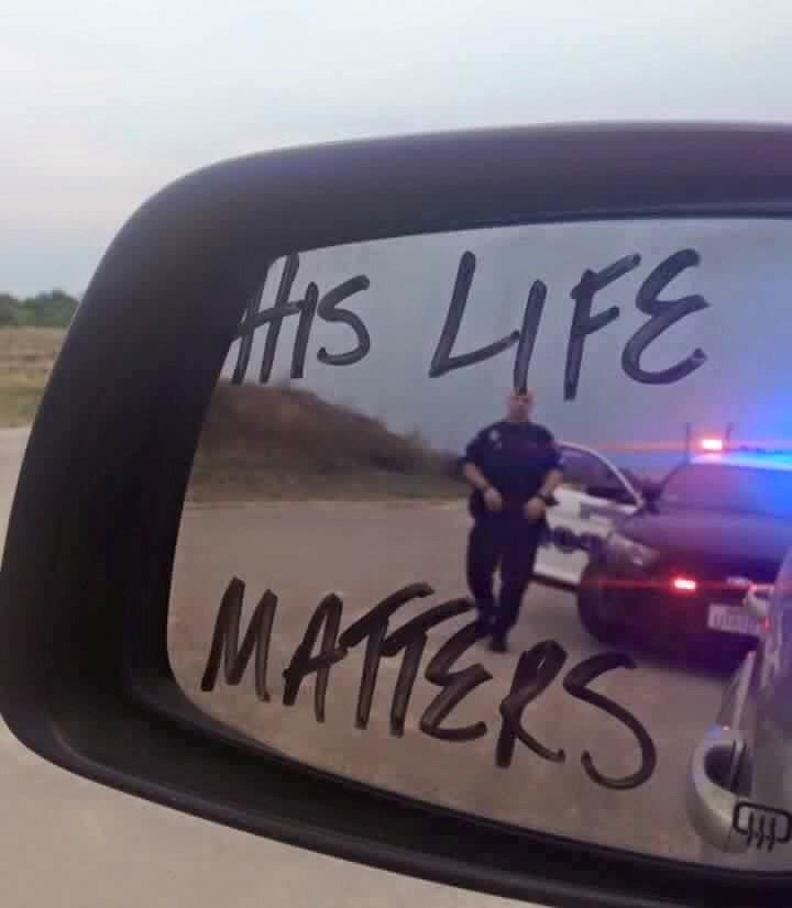 Police Lives Matter Mirror