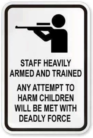 Second Amendment School Sign