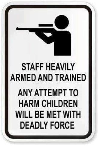 Second Amendment School Sign