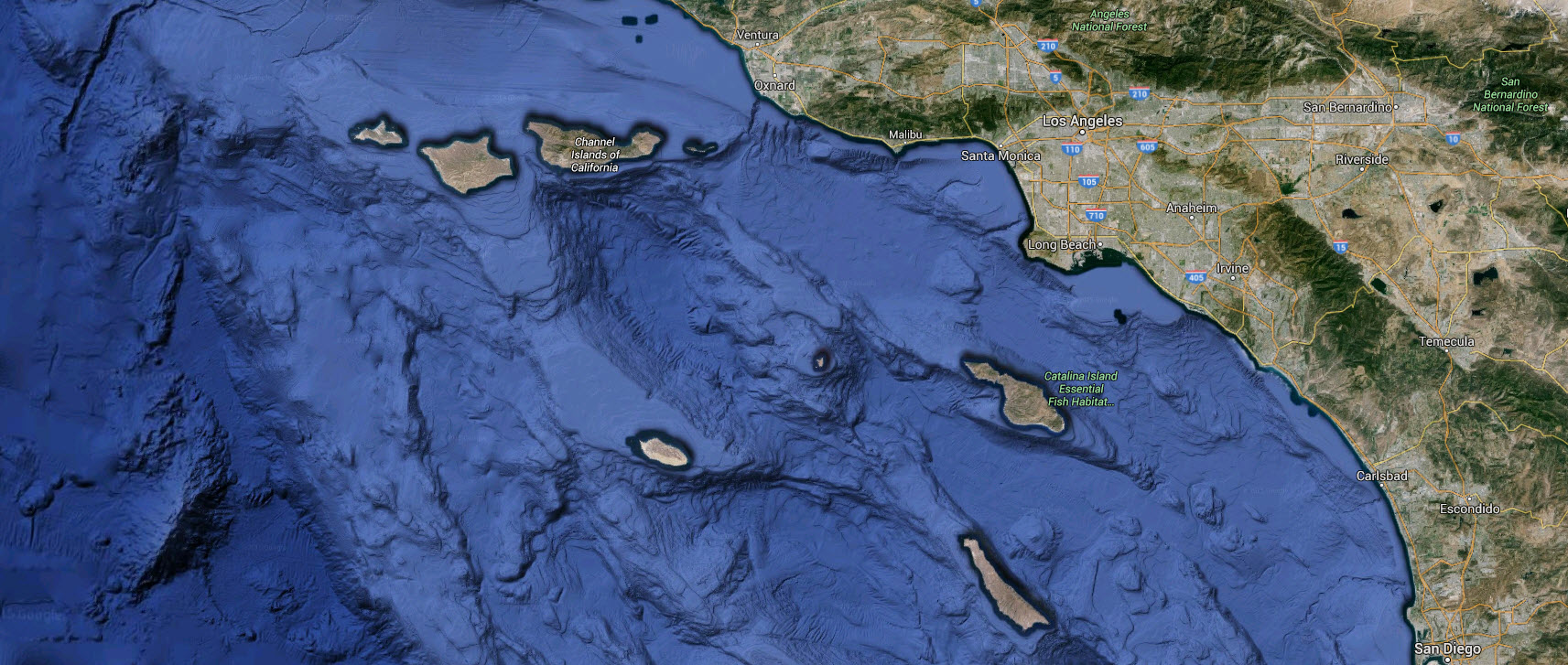 Catalina Trench Pacific Ocean