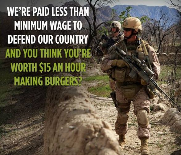 Minimum Wage and Soldiers