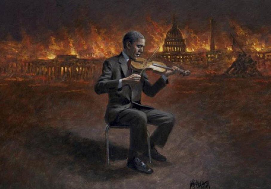 Obama Fiddling As DC Burns