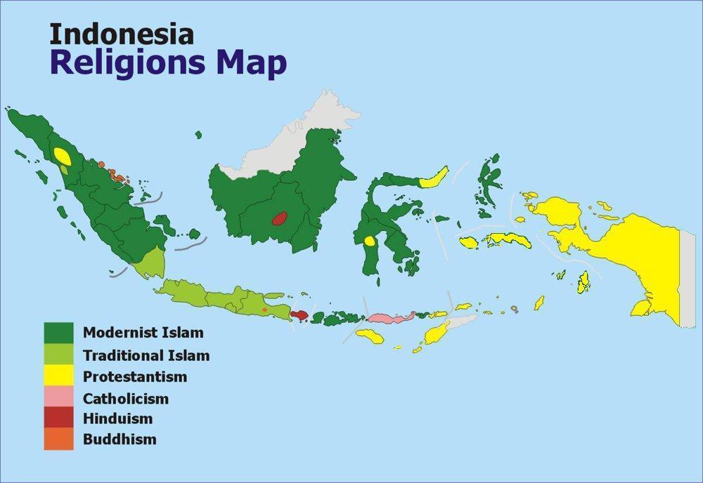 Indonesia Religious Map