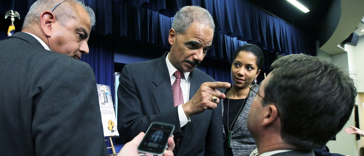Eric Holder Finger Pointing Kiss My Ass