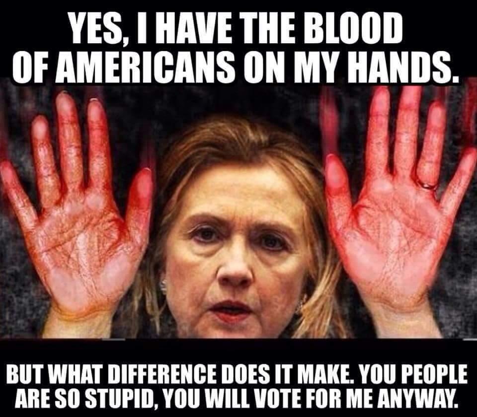 Hillary Benghazi Bloody Hands
