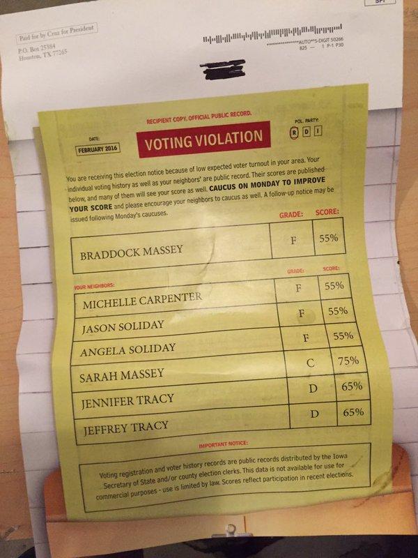 Ted Cruz Voting Violation