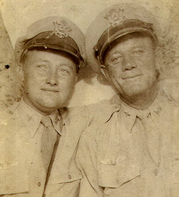 Dad, Sepia, Capt, Roswell Flt Inst, With Joel Kuykendahl-A