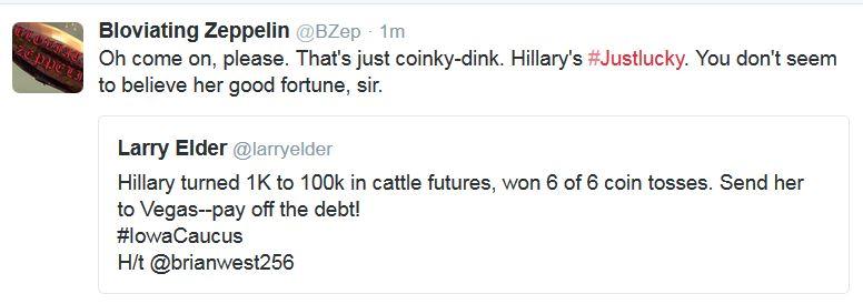 Hillary Clinton's Good Fortune