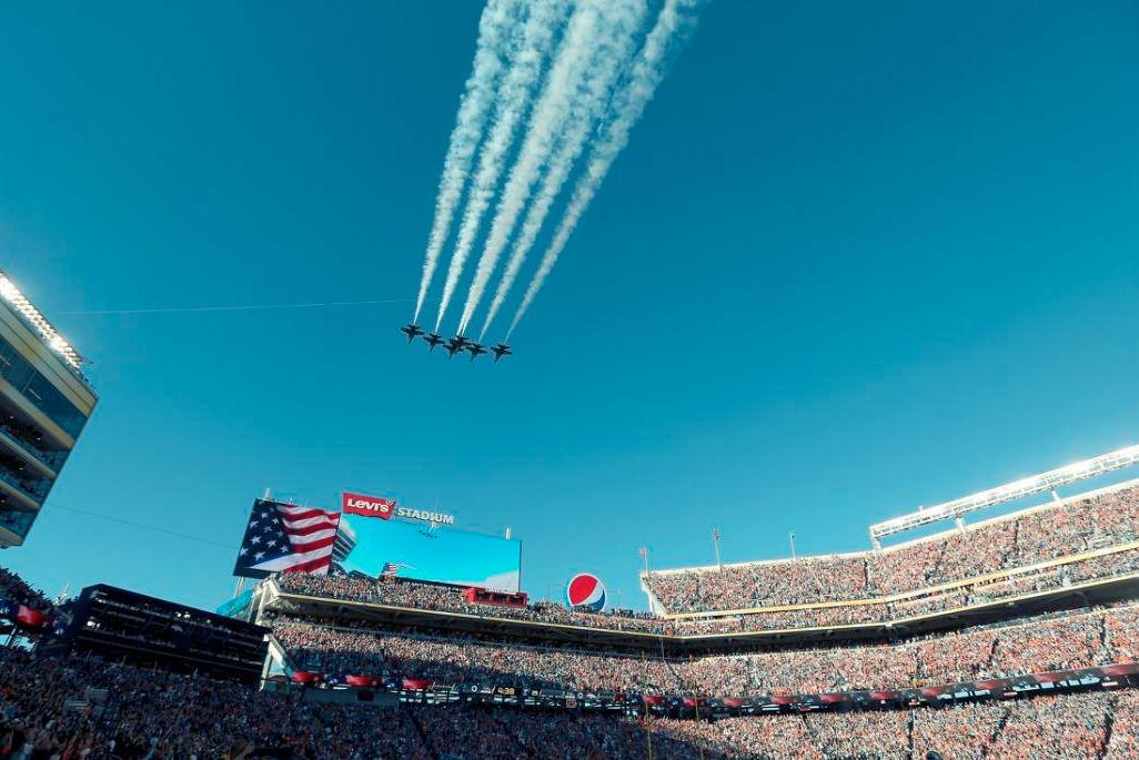 Super Bowl 50 Angles Flyover