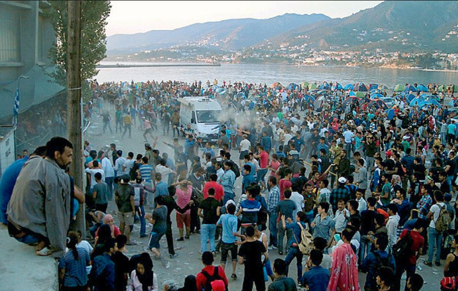 Syrian Refugees In Greece, Port of Lesbos