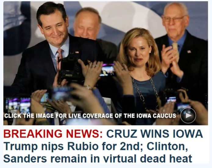 Ted Cruz Wins In Iowa