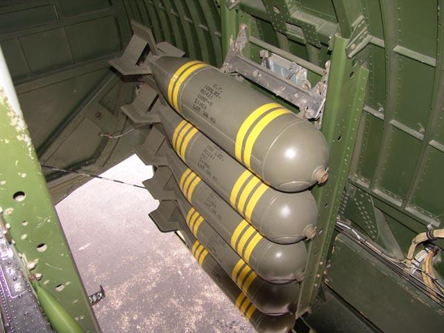 Bombs In Bomb Bay of B-17