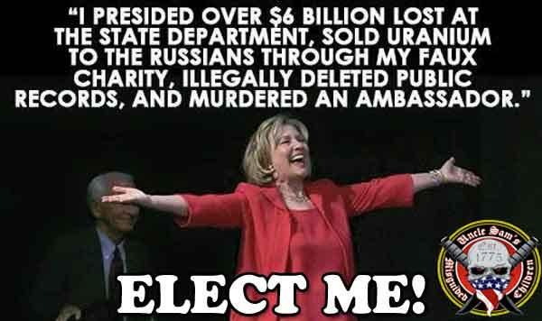 Hilary Clinton ELECT ME