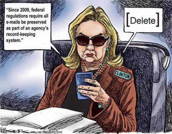 Hillary Clinton DELETES