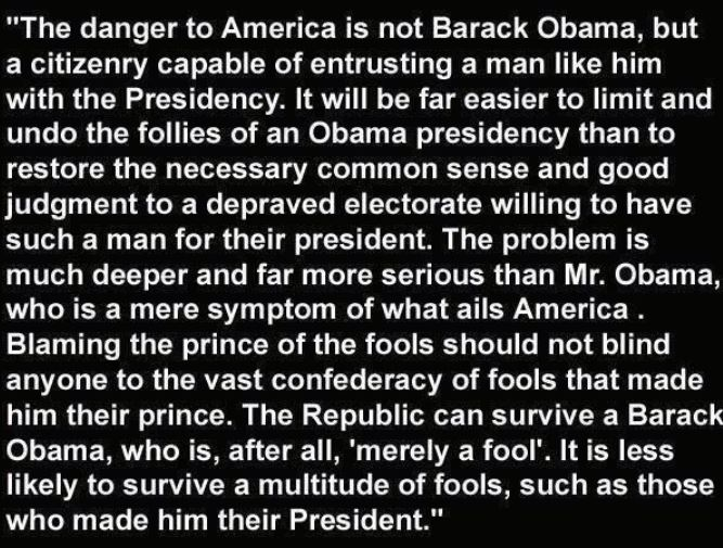 Obama True Danger To America