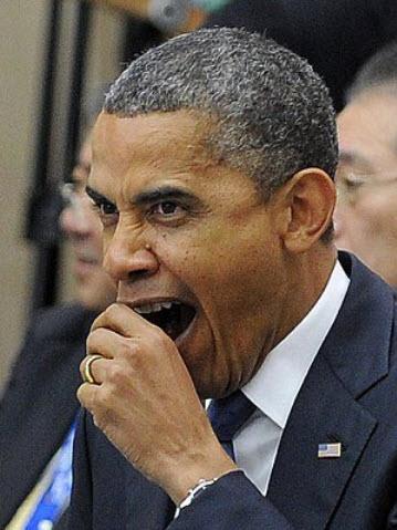 Obama Yawning