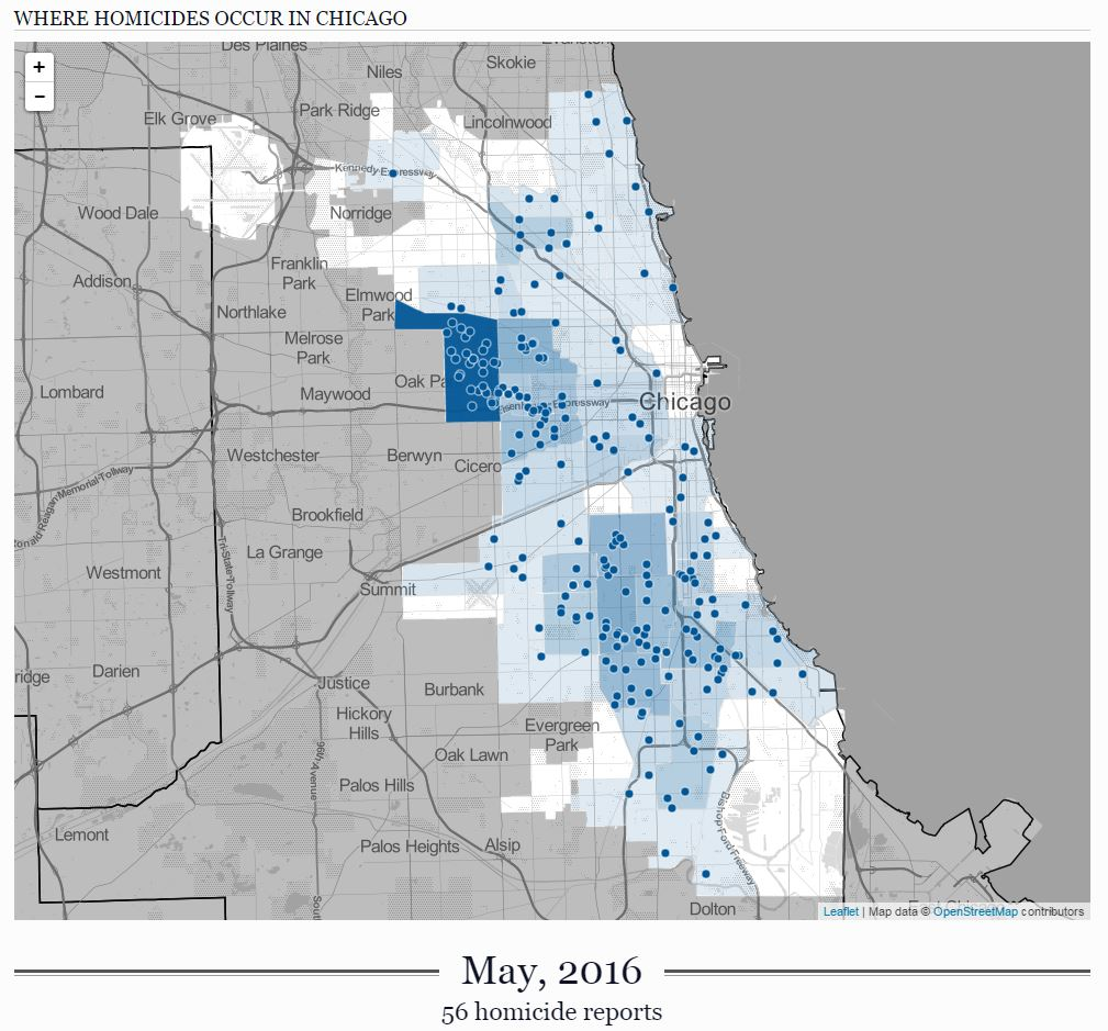 Chicago Homicide Locations