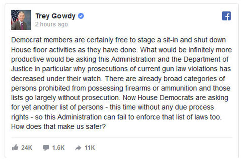 Trey Gowdy House Demorats