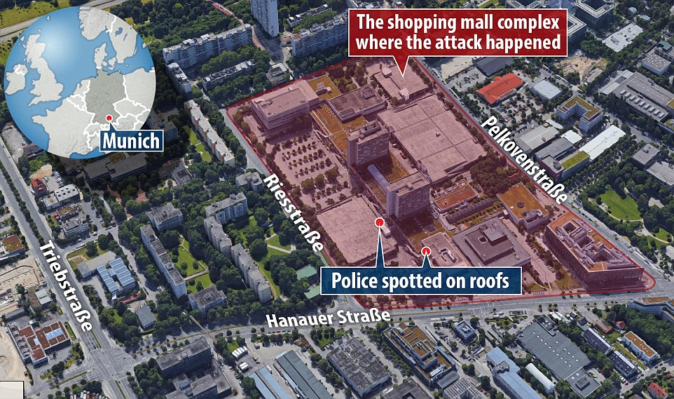 Munich Terror Shooting Graphic
