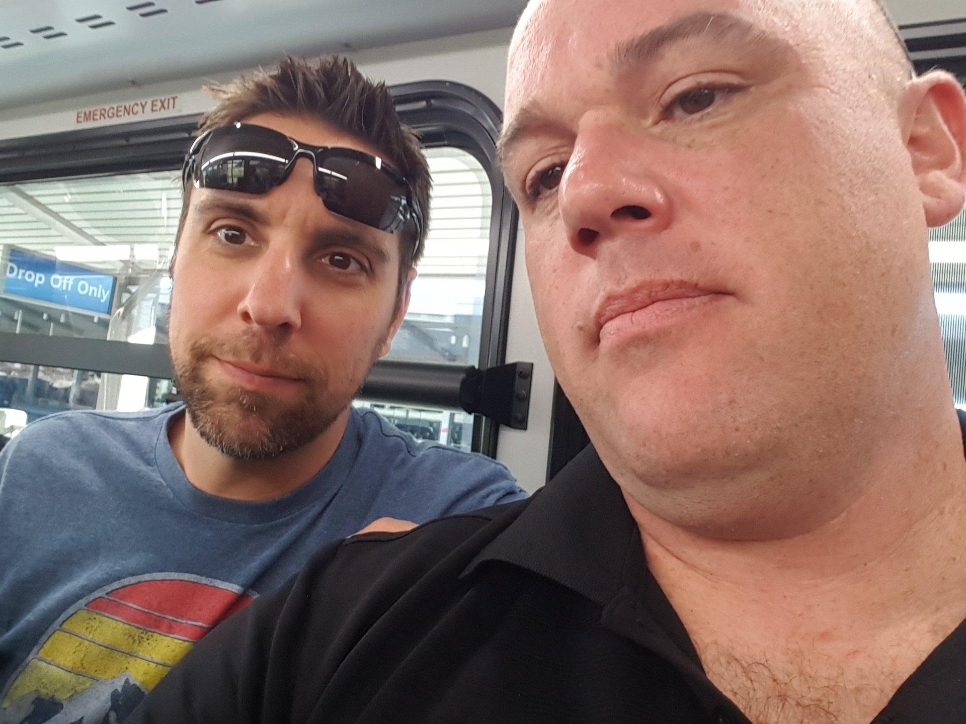 Clint & Shaun Enroute Las Vegas