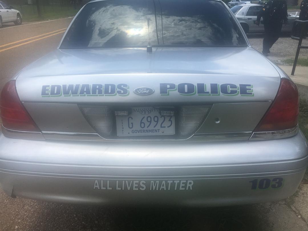 Police Car Bumper Sticker ALL LIVES MATTER